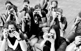 Schüler des Fotoworkshops am Friedrich-Dessauer-Gymnasium